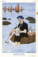 Caricature de Georges Claude paru dans Fantasio, N°507.
