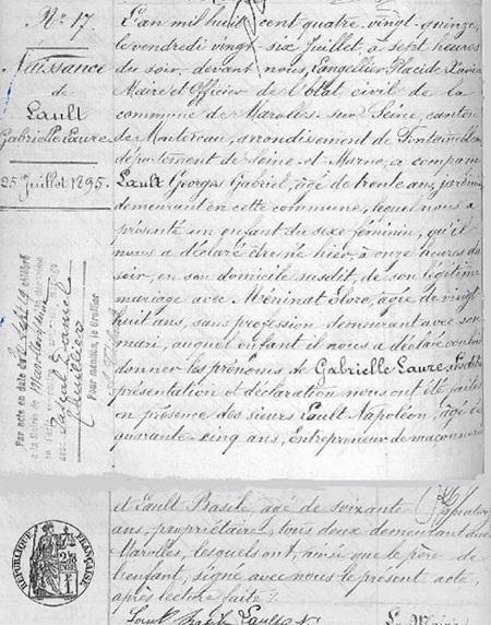 texte genalogique