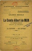 Page de couverture de l'ouvrage intitulé « Le Comte Albert de Mun de l'Académie Française.