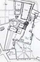 Détail du plan de l'enclos de l'abbaye du Lys dressé en 1792.