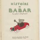 Couverture de la première édition de l'Histoire de Babar