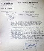 Rapport au Préfet de Seine-et-Marne en date du 5 décembre 1941 concernant les personnes fusillées.