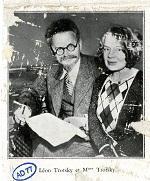 Photographie de Léon Trotski et sa femme.