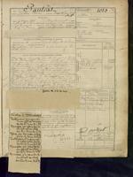 Page d'un registre matricule