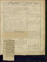 Page of a recruitment register.