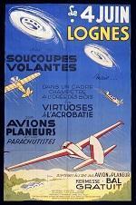 Affiche d'un meeting aérien à Lognes.