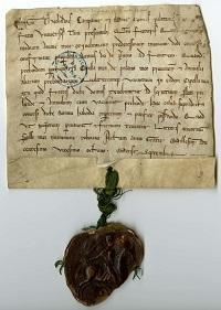 Sceau équestre d'une charte attribuée au comte Thibaud de Champagne.