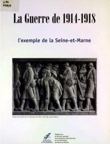 """Couverture du Mémoire & Documents """"La guerre de 1914-1918"""""""