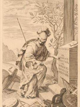 Gravure représentant l'éducation du Dauphin
