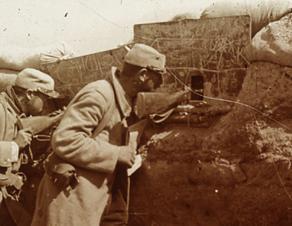 Soldats dans une tranchée, 1915