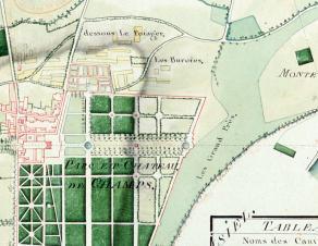 Détail du plan d'intendance de Champs-sur-Marne