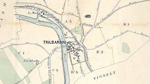 Plan de Trilbardou par Denizot.