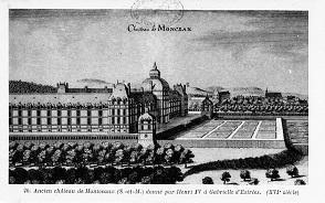 Ruines du château royal de Montceaux-en-Brie.