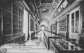 Construite sous Henri IV, la Galerie de Diane du Château de Fontainebleau.