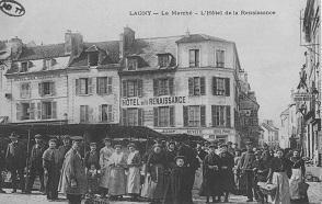 La place du marché à Lagny-sur-Marne.
