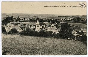 Vue d'ensemble du village de Mareuil-lès-Meaux.