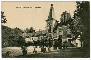 Chessy, le château. Carte postale.
