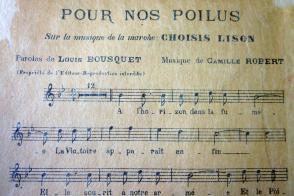 Extrait de la chanson Pour nos Poilus.