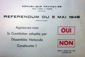 Bulletin utilisé lors du référendum du 5 mai 1946