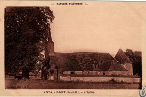 Carte postale, église Sainte-Anne de Baby.