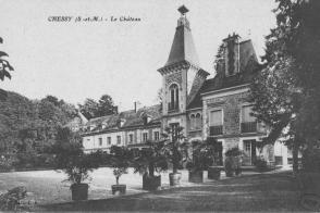 Chessy, le château, carte postale.