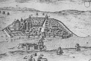 Dessin de Moret-sur-Loing, XVIIe siècle.