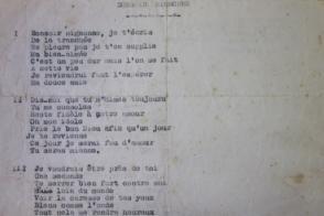 Extrait de la chanson Bonsoir Mignonne.
