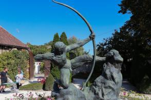 Le musée-jardin Bourdelle et la sculpture d' Héraclès archer.