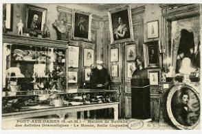 Le musée de la maison de retraite, salle dédiée à Constant Coquelin.