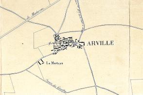 Plan de la commune d'Arville