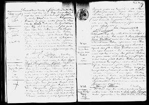 Acte de décès de Jacques-Joseph Champollion-Figeac.