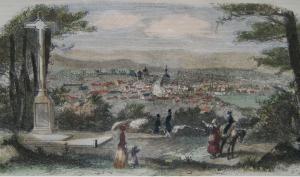 Vue générale de la ville de Fontainebleau, depuis le Calvaire