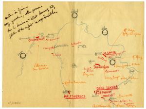 Carte de circuits d'escalade (Essonne, Seine-et-Marne)