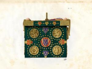Quatrième planche en chromolithographie de l'ouvrage : cassette de Saint-Louis vue du coté gauche