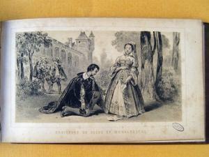 Estampe représentant Catherine de Suède et Monaldeschi
