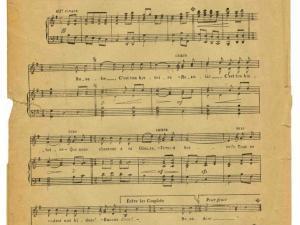 """Rosalie : chanson-marche en l'honneur de la terrible """"Baïonnette française"""" (AD77, AZ6407)"""