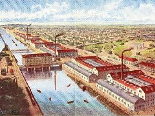 L' usine Menier de Noisiel, dessin.