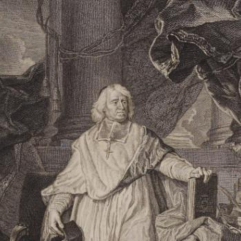 Gravure représentant Bossuet