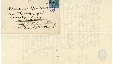 Lettre de Rosa Bonheur à M. et Mme Boisset à Cour-Cheverny (Loir-et-Cher)