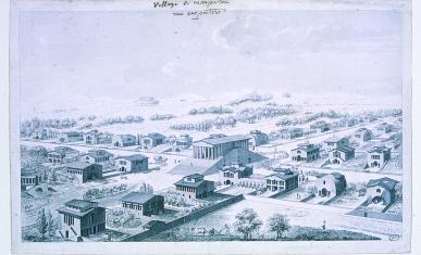 Projet de Ledoux pour l'aménagement d'une cité nouvelle à Mauperthuis