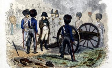 Napoléon durant la bataille de Montereau