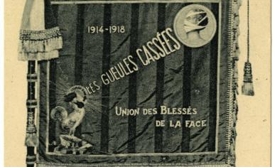 Carte postale : le fanion des gueules cassées