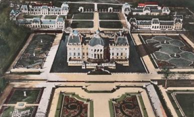 Le château de Vaux-le-Vicomte, carte postale.