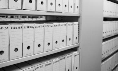 Vue des magasins contenant les archives notariales