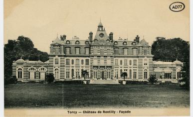 Vue du Château de Rentilly avant l'incendie de 1944.