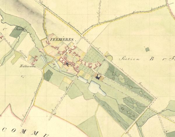 Plan du cadastre de Ferrières-en-Brie.