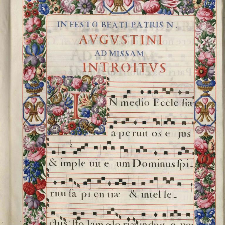 Introït pour la messe de la fête de saint Augustin (folio 21)