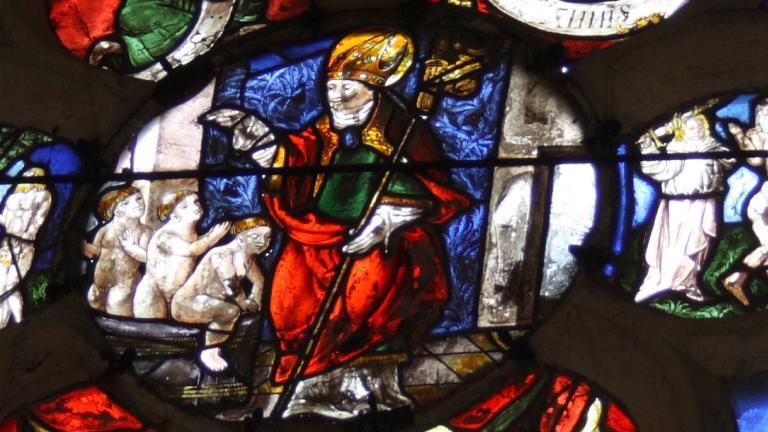Vitrail de l'église de Champeaux