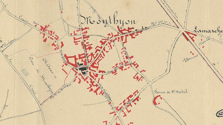 Plan extrait de la monographie communale de Monthyon