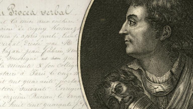 Portrait du général Kosciuszko